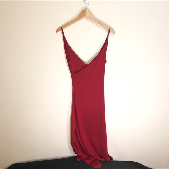 Long Maxi Dress with leg slit women's size small